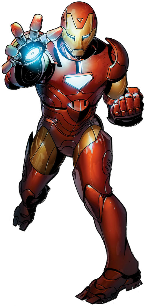 Iron Man armour suit (Marvel Comics) from a 70th anniversary cover