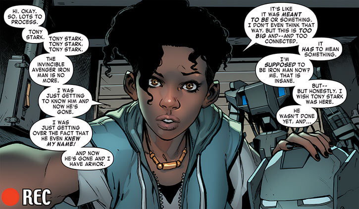 Ironheart - Marvel Comics - Riri Williams - Tony Stark is dead