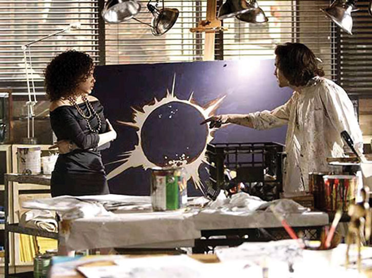Isaac Mendez (Santiago Cabrera) over his painting of an eclipse