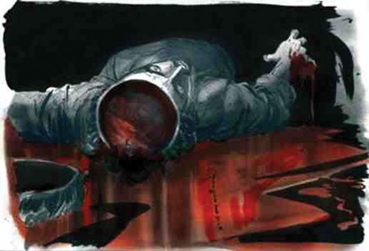 Isaac Mendez (Santiago Cabrera)'s painting of his death