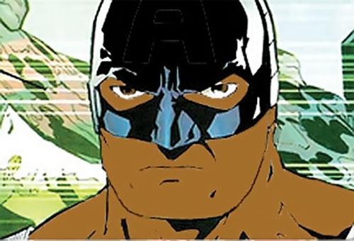 Captain (Isaiah Bradley) imaginary az version face closeup