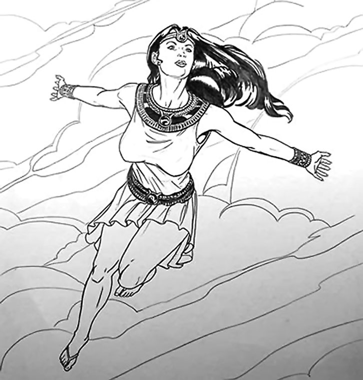 Sketch of Isis flying
