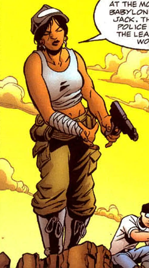 Sala Nisaba (Green Lantern ally) (DC Comics) with her pistol