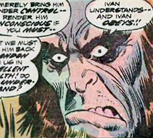 Ivan (Marvel Comics) (Frankenstein enemy) face closeup