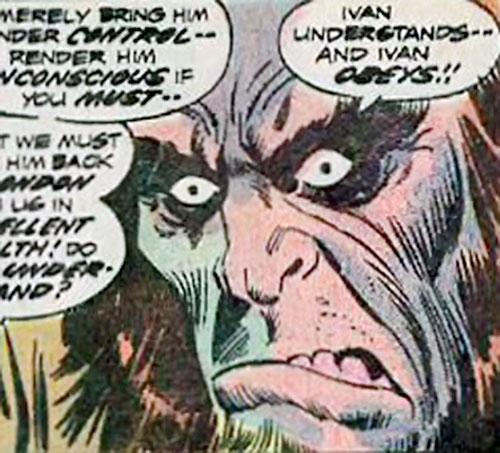Ivan (Marvel Comics) (Frankenstein enemy) face closeup