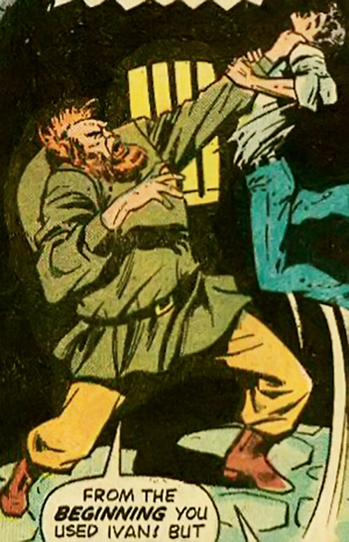 Ivan (Marvel Comics) (Frankenstein enemy) strangles a man