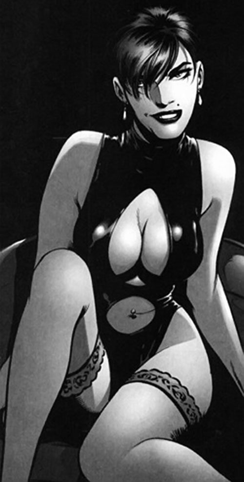 Ivana Baiul (DV8) (Wildstorm Comics) in black & white