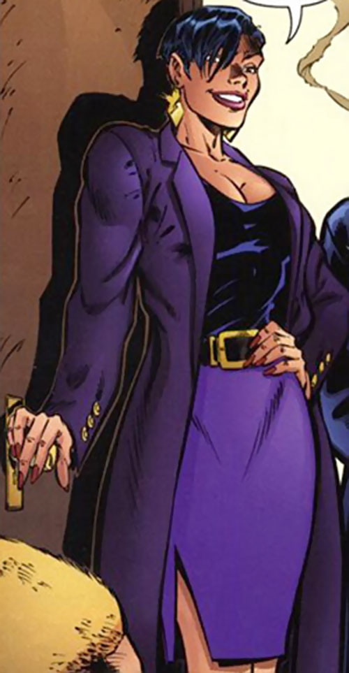 Ivana Baiul (DV8) (Wildstorm Comics) in purple business casual