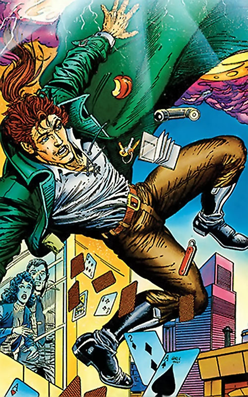 Ivar the Timewalker (1990s Valiant Comics) falling from a building