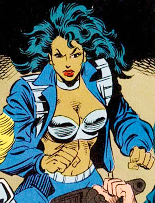 Ivory agent of SHIELD (Marvel Comics) ready for action