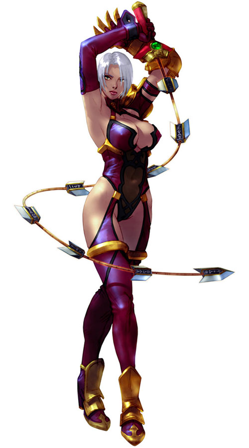 Ivy (Soul Calibur) whipping her sword around her body