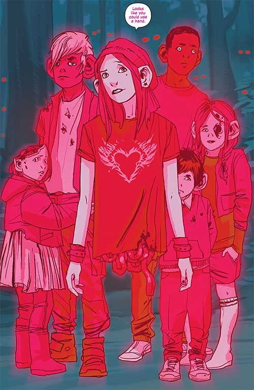 Izabel the Horror (Saga comics Image) and ghost children