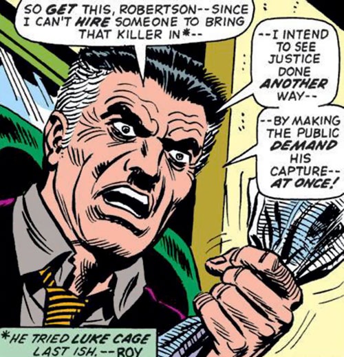 J Jonah Jameson (Spider-Man character) (Marvel Comics) during the 1970s