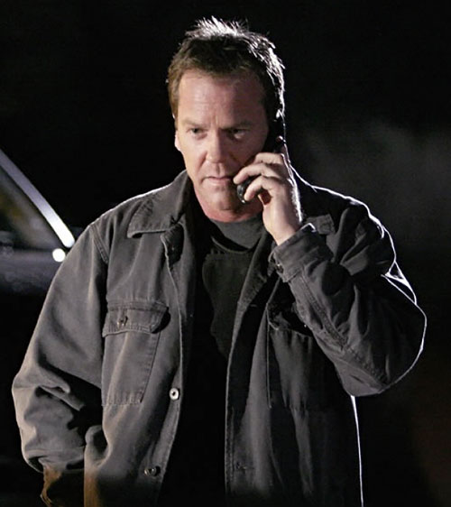 Jack Bauer (Kiefer Sutherland in 24) on the phone in the night