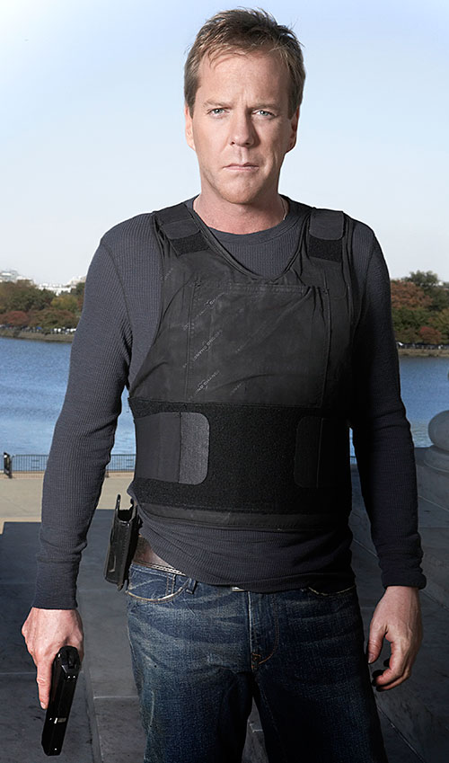 Jack Bauer (Kiefer Sutherland in 24) with a tactical vest