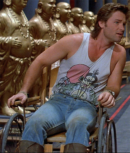 Jack Burton (Kurt Russell in Big Trouble In Little China) in a wheelchair