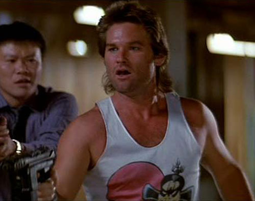 Jack Burton (Kurt Russell in Big Trouble In Little China) pointing his gun