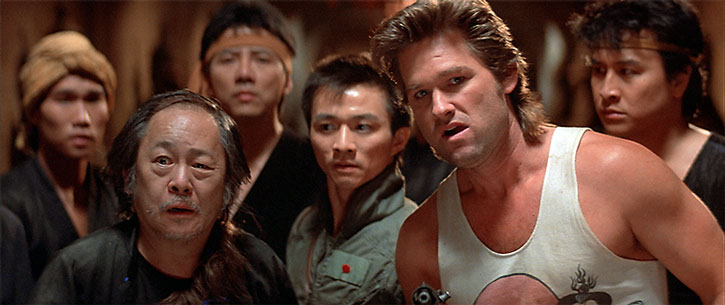Jack Burton (Kurt Russell) and allies