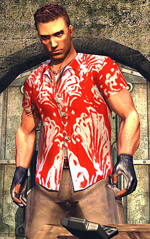 Jack Carver (Far Cry) with his red and white tropical shirt