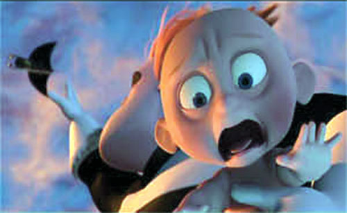 Jack-Jack (The Incredibles baby) falling and screaming