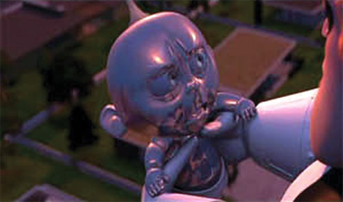 Jack-Jack (The Incredibles baby) turning into metal