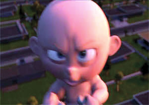 Jack-Jack (The Incredibles baby) about to morph