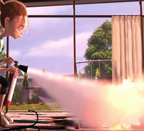 Jack-Jack (The Incredibles baby) extinguished