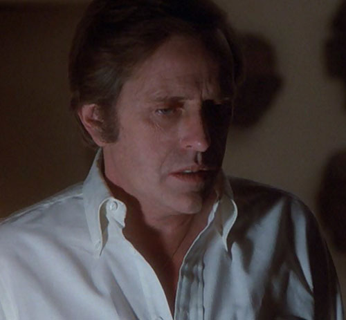 Jack McGee (Jack Colvin in The Incredible Hulk TV series) white shirt and shadows
