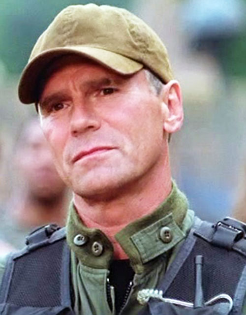 Jack O'Neill (Richard Dean Anderson in Stargate) face closeup