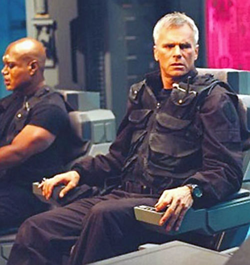 Jack O'Neill (Richard Dean Anderson in Stargate) in a command chair