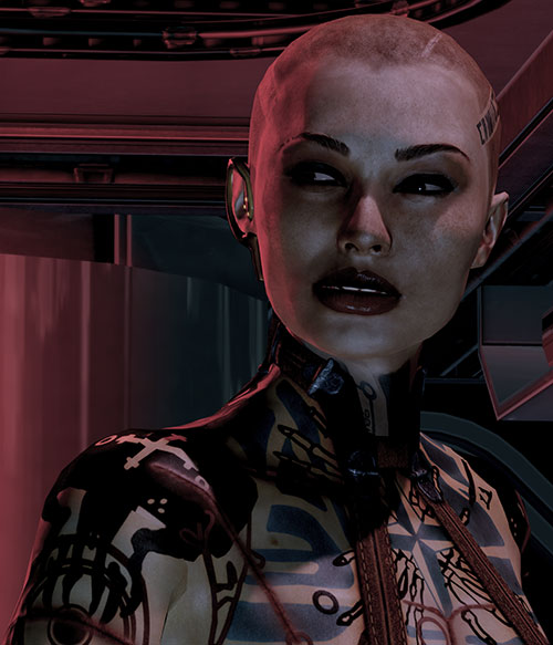 Jack Subject Zero (Mass Effect 2) sneering
