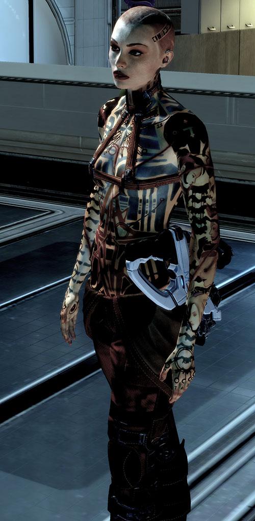 Jack Subject Zero (Mass Effect 2) hi-res with a Phalanx