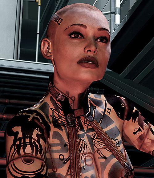 Jack Subject Zero (Mass Effect 2) high resolution closeup