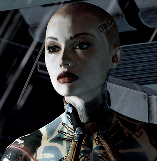 Jack Subject Zero (Mass Effect 2) high res portrait