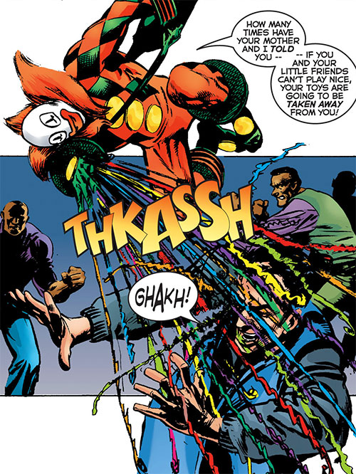 Jack in the Box (Astro City) using streamers
