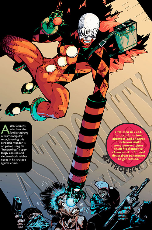 Jack in the Box (Astro City) using fistapults and a clown nose