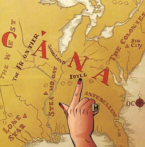 Jack of Fables (DC Comics) - map of Americana