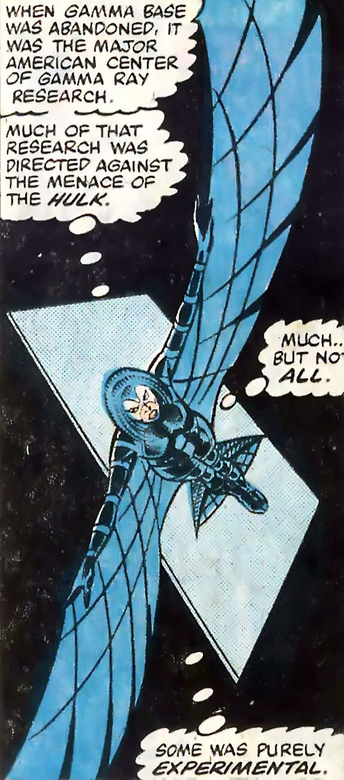 Jackdaw aka Blackbird (Marvel Comics) in flight