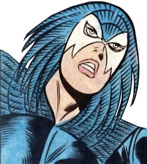 Jackdaw aka Blackbird (Marvel Comics) face closeup