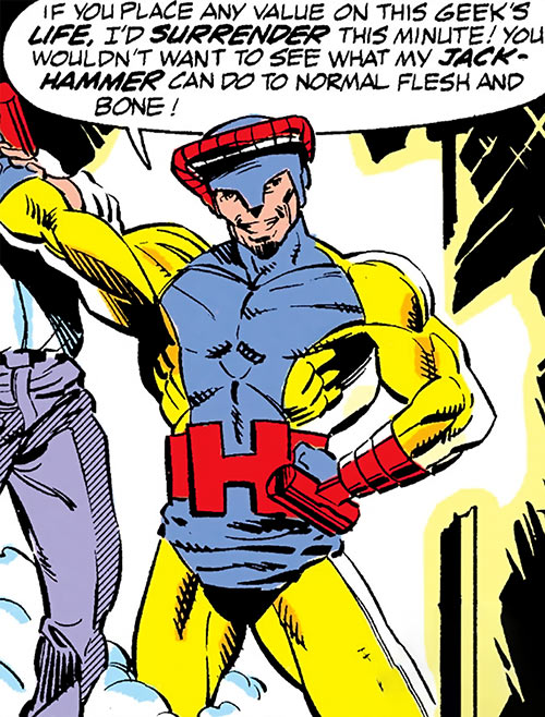 Jackhammer (Marvel Comics) with a hostage