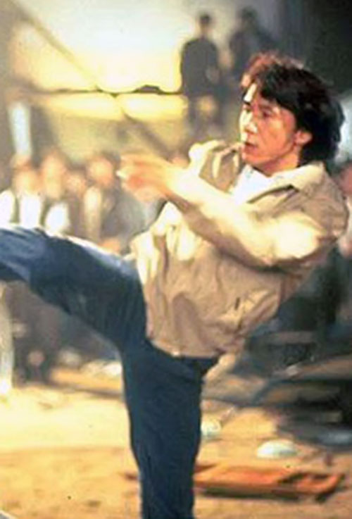 Jackie Chan in Rumble in the Bronx, kicking