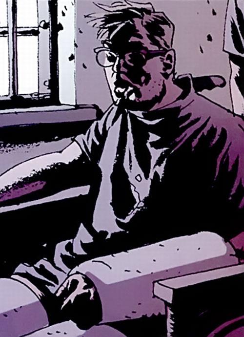 Jacob Kurtz (Brubaker's Criminal comics) badly wounded