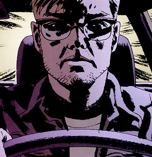 Jacob Kurtz (Brubaker's Criminal comics) driving fast