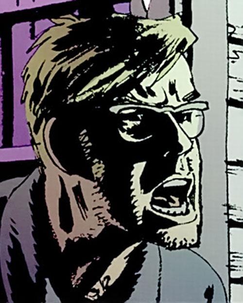 Jacob Kurtz (Brubaker's Criminal comics) yelling