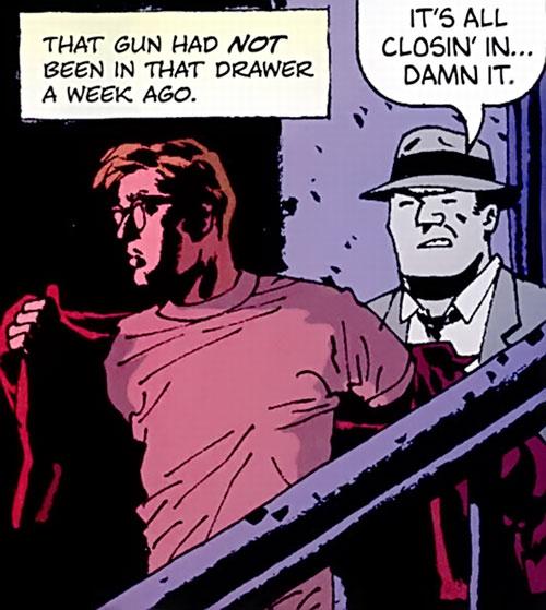 Jacob Kurtz (Brubaker's Criminal comics) with Frank Kafka