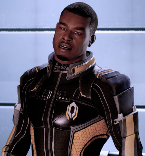 Jacob Taylor (Mass Effect) talking head cocked