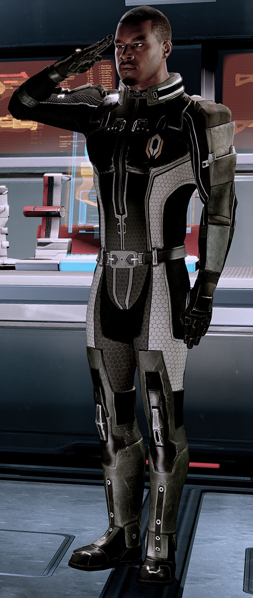 Jacob Taylor (Mass Effect) saluting high resolution uniform