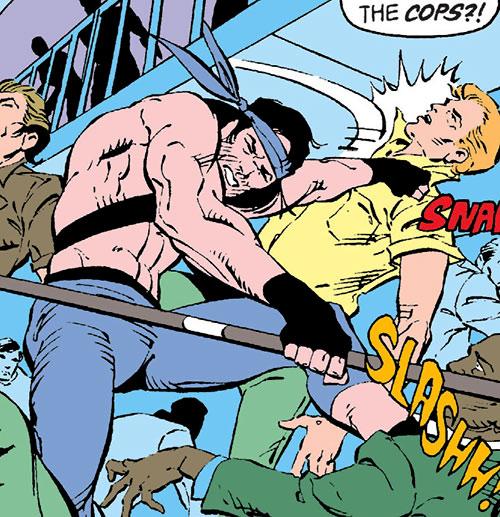 Jaculi of the Jihad (Suicide Squad enemy) (DC Comics) killing civilians