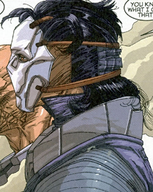 Jaeger Weiss of Stormwatch Team Achilles (Wildstorm Comics) with his mask on
