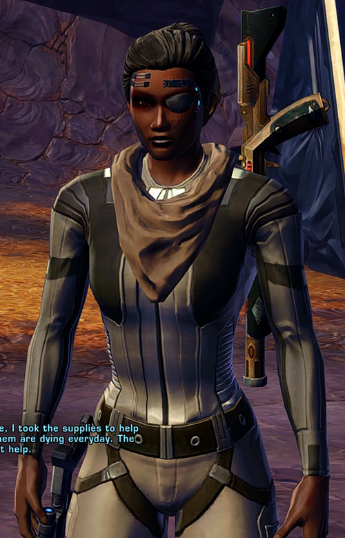 SWTOR - Star Wars the Old Republic- Cyborg republic trooper in grey fatigues